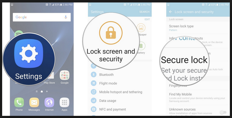 activate smart lock on samsung galaxy s7 edge